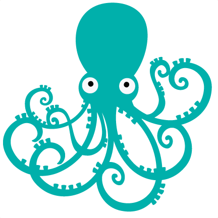 Fish outline octopus. Free download best on