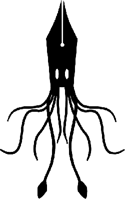 250x397 Squid, Fountain, Ink, Pen, Silhouette, Abstract, Animal