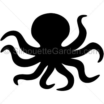 336x334 Free Octopus Fish Silhouette Clipart