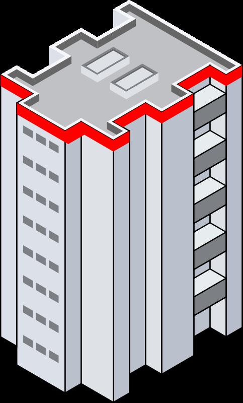 483x800 Clip Art Office Building Clipartix