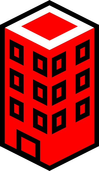 348x599 Office Building Red Clip Art