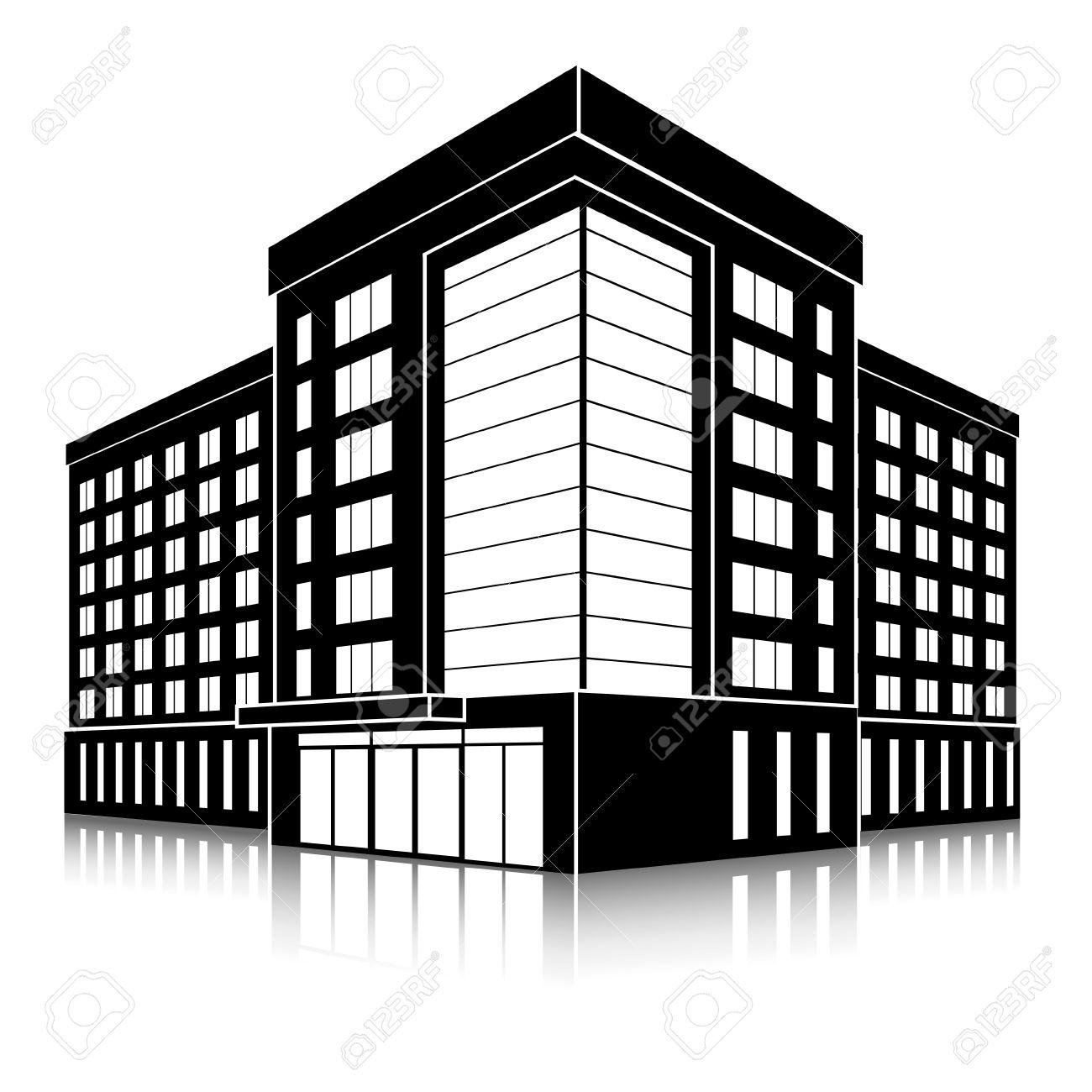 1300x1300 Office Building Silhouette Clip Art Cliparts