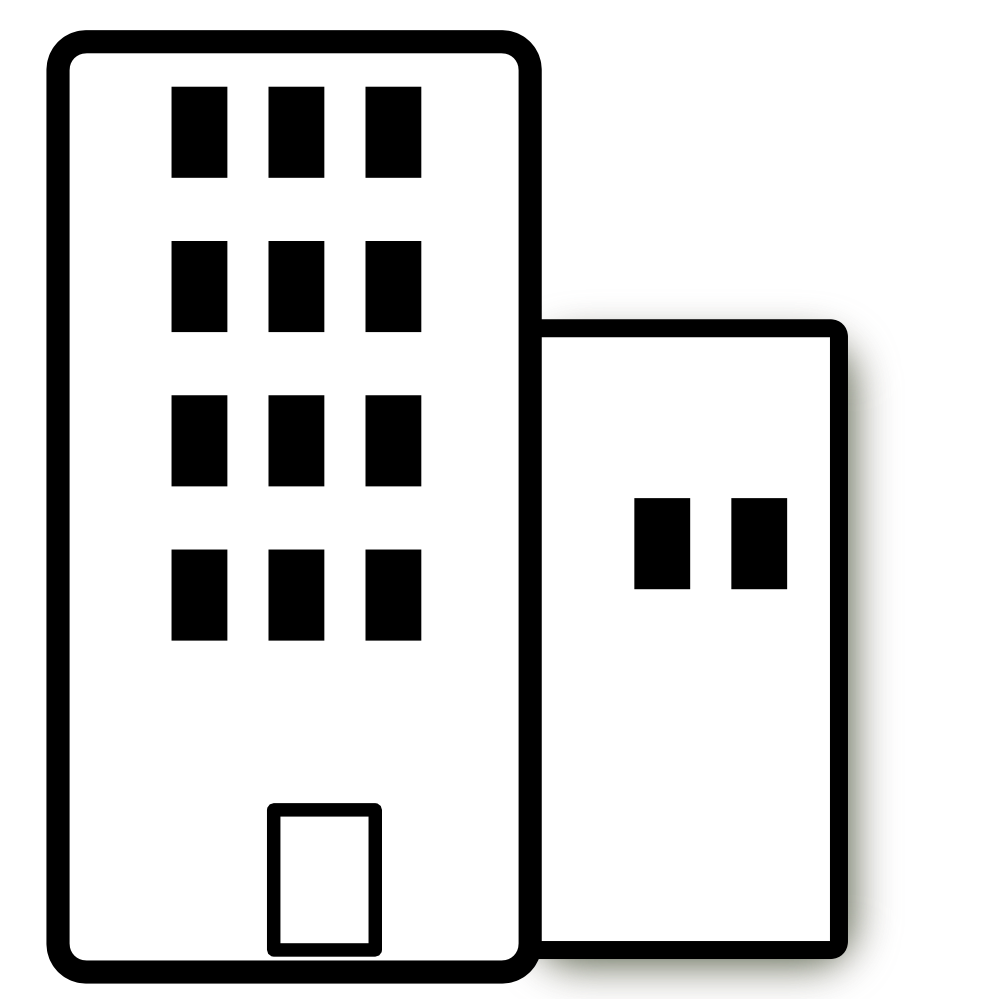 999x999 Office Building Black And White Clipart Clipart Kid