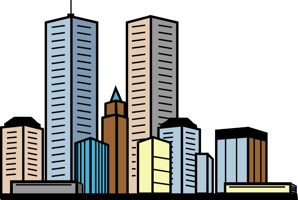 999x671 Office Clipart Tall Building