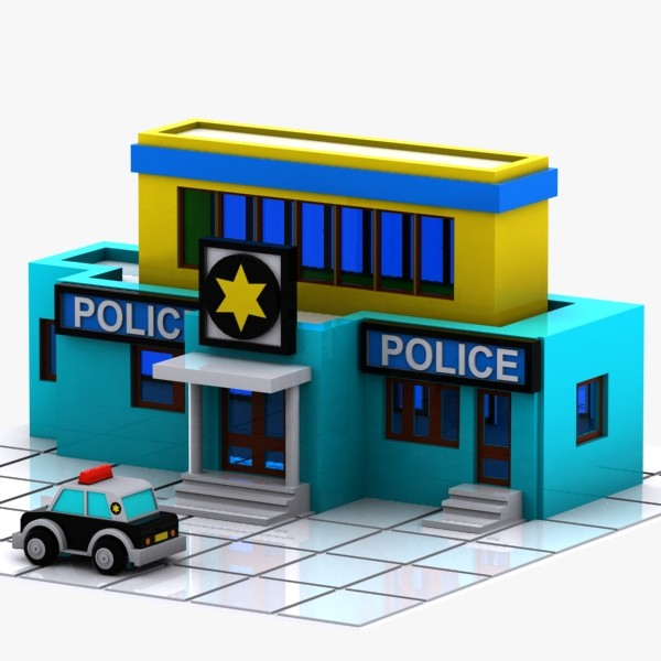 600x600 Police Clipart Office Building