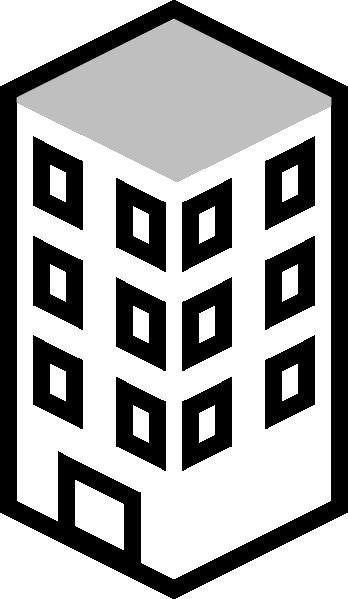 348x599 Building White Clip Art