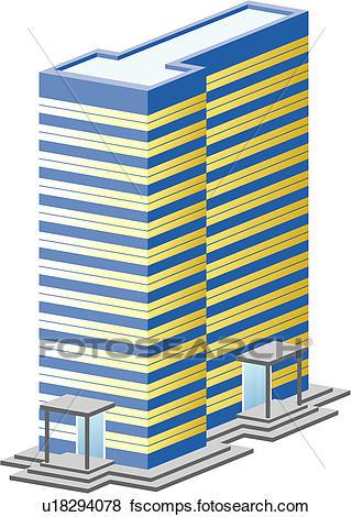 320x470 Clip Art Of Office Building, Build, Architecture, Structure