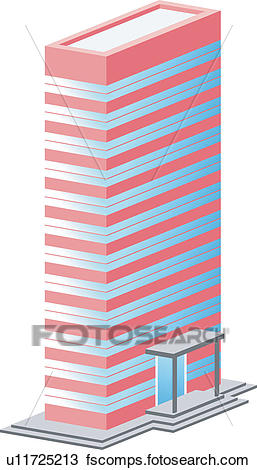 257x470 Clipart Of Office Building, Build, Architecture, Structure
