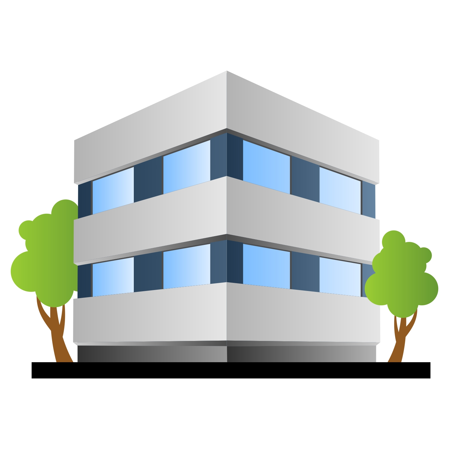 1500x1500 Home Office Corporate Building Stock Vectors Cliparts