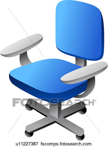 345x470 Clip Art Of Furniture, Office Chair, Seating Furniture, Chair