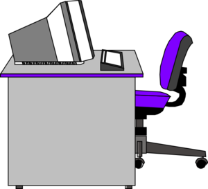 300x273 Office Desk Clip Art