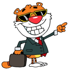 293x300 Business Tiger Clipart Image