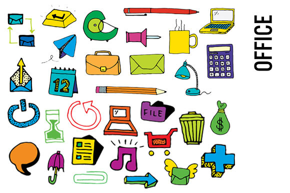 580x386 Office Clipart Collection