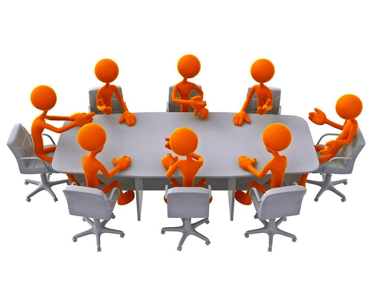1280x1024 Office Meeting Clipart