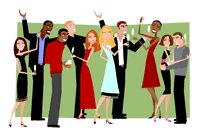 200x138 Free Office Christmas Party Clipart