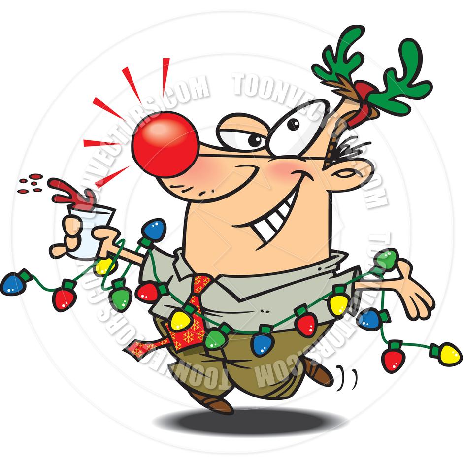 940x940 Cartoon Christmas Party By Ron Leishman Toon Vectors Eps