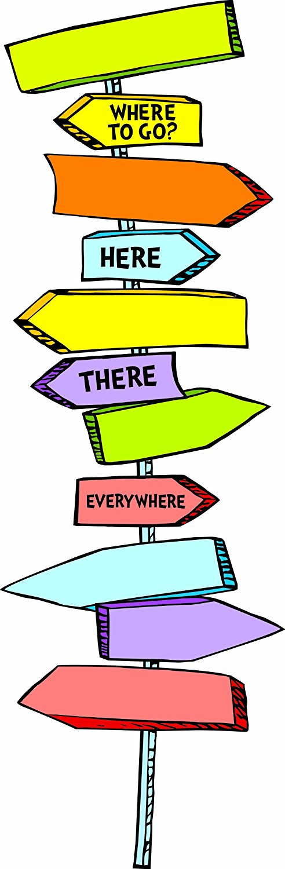 492x1500 Eureka Dr. Seuss Blank Directional Signs Mini Bulletin