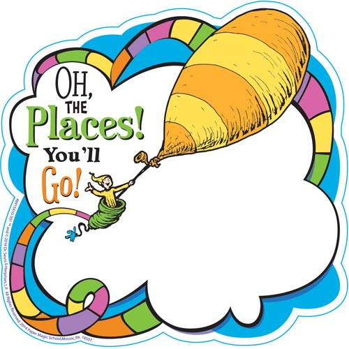500x500 Dr. Seuss Oh The Places You'Ll Go Paper Cut Outs