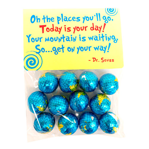 500x500 Oh, The Places You'Ll Go! Foiled Chocolate Globes
