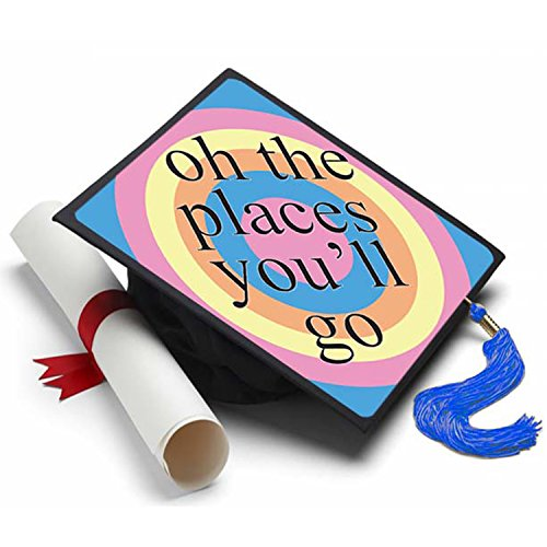 500x500 Oh The Places Graduation Cap Tassel Topper