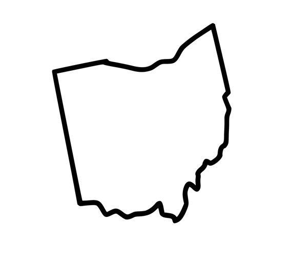 570x511 State Of Ohio Outline Clip Art Clipart Collection