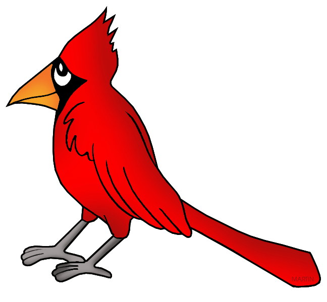648x599 United States Clip Art By Phillip Martin, Ohio State Bird