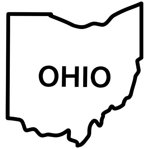 500x500 Ohio State Outline Clipart