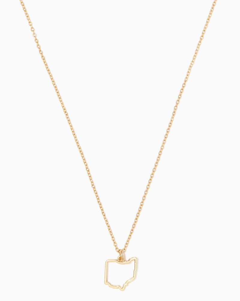 800x1000 Ohio Outline Necklace Fashion Jewelry