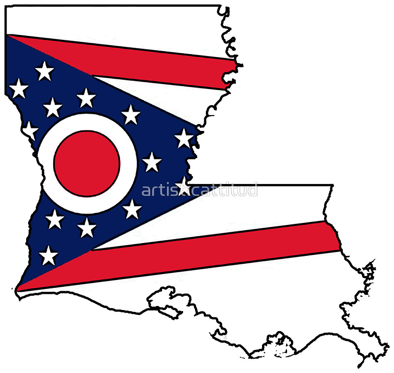 800x758 Ohio Flag Louisiana Outline Stickers By Artisticattitud Redbubble
