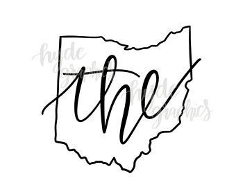 340x270 Ohio Outline Svg Etsy