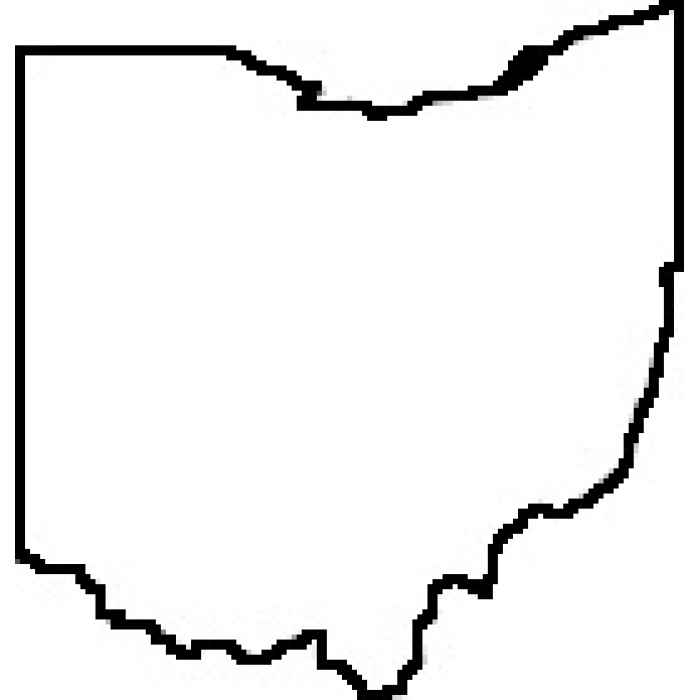 700x700 State Of Ohio Outline Map Rubber Stamp