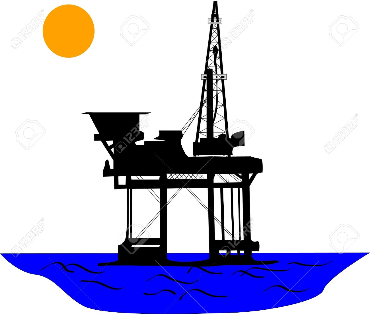 1300x1104 Oil Rig Clipart Oil Station
