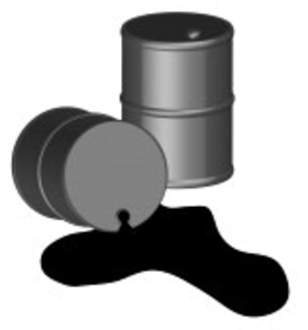 280x300 Oil Spilling Out Of One Black Oil Barrel D Vector Free Images