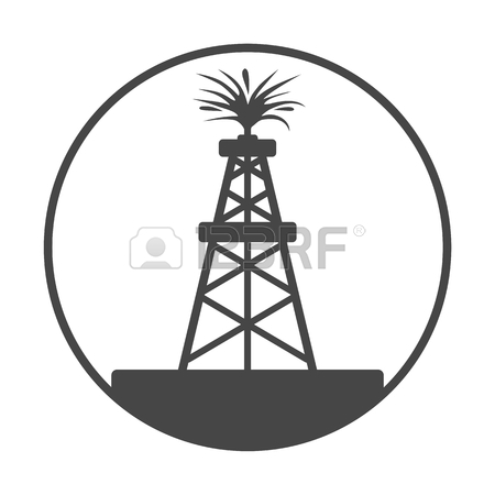 450x450 Oil Rig, Oil Gusher Icon Royalty Free Cliparts, Vectors, And Stock