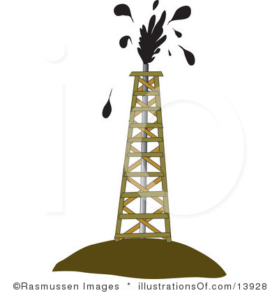 400x420 Oil Rig Clipart Crude Oil