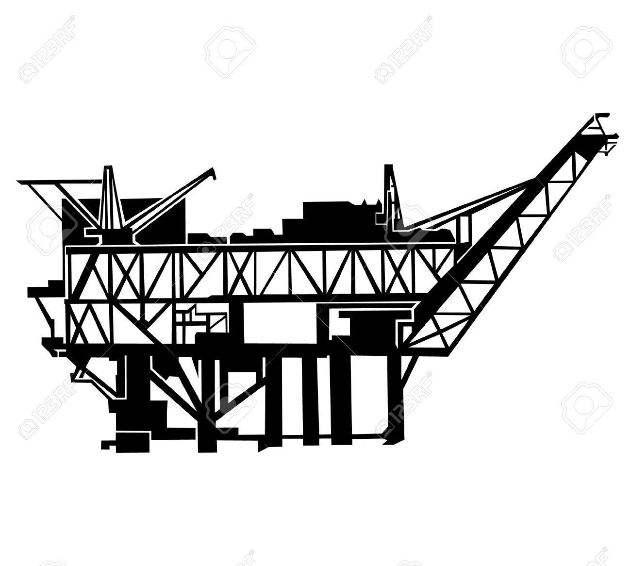 1300x1166 Oil Rig Clipart Oil Well