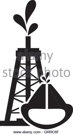 255x470 Oil Reservoir And Oil Rig Icon Stock Vector Art Amp Illustration