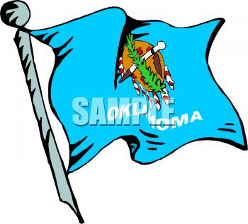 350x317 Oklahoma Flag Clipart