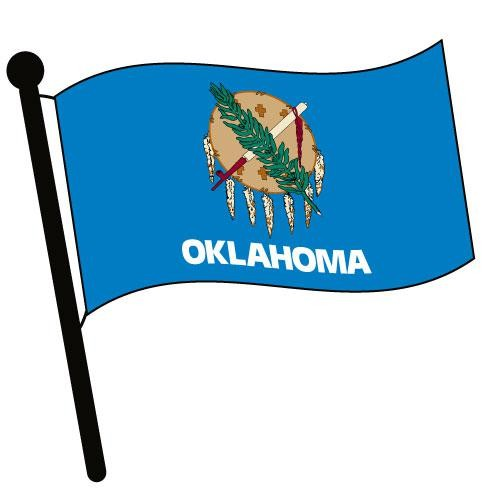 500x500 Oklahoma Waving Flag Clip Art