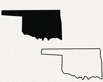 340x270 Oklahoma Outline Etsy Dk