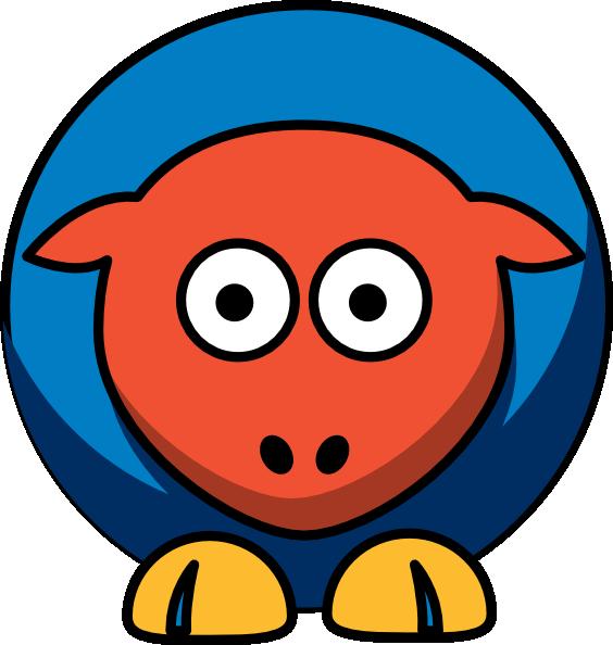 564x594 Sheep Oklahoma City Thunder Team Colors Clip Art