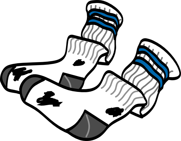 600x468 Old Socks Clip Art