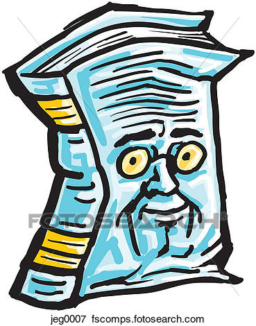 369x470 Stock Illustration Of An Old Worn Out Book With A Face Jeg0007