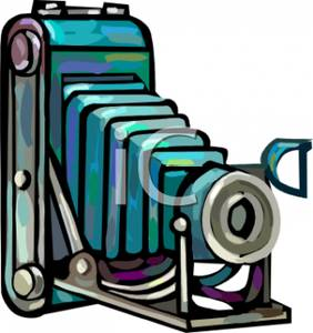 282x300 Free Clipart Image A Blue Old Fashioned Camera