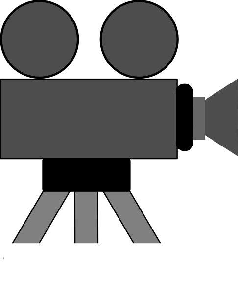 486x598 Movie Camera Clip Art