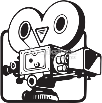 413x415 Old Clipart Movie Camera