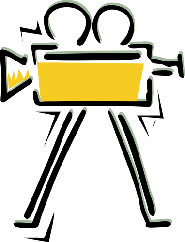 382x500 Old Filming Camera Vector Drawing Public Domain Vectors