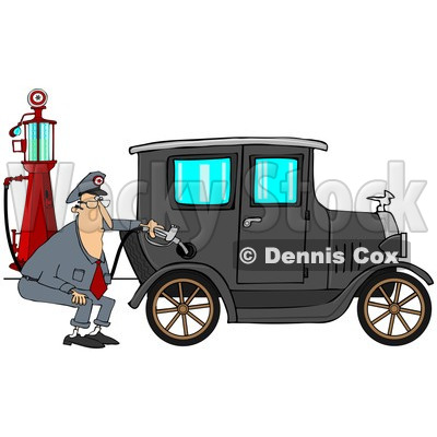 400x400 Clipart Of A Male Attendant Pumpingtique Blue Car