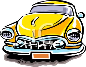 350x270 Old Car Cartoon Clipart