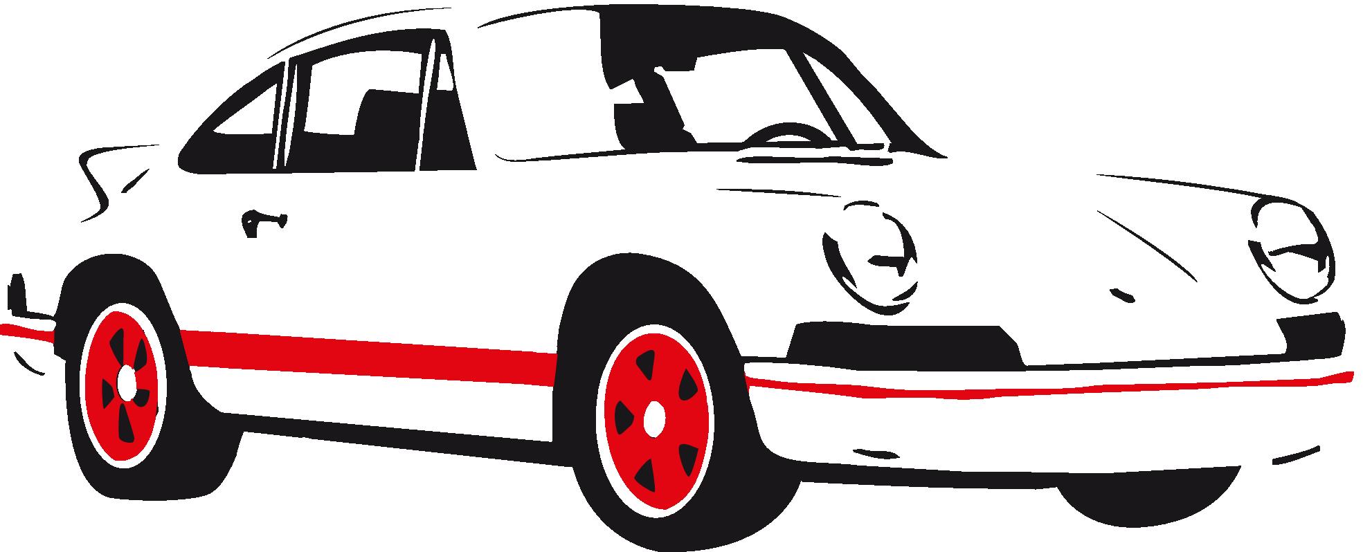 1969x798 Sports Classic Car Clipart